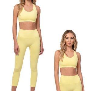 TLA Morgan Stewart LA Collective Pastel Yellow Set